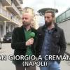 Brumotti e Luca Abete di Striscia la Notizia in città per inaugurare il murales della pace