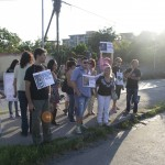 I manifestanti contro l'utilizzo di animali al circo