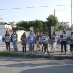 manifestanti contro l'utilizzo di animali al circo