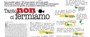 I colleghi di San Giorgio e'-press sono solidali con i giornalisti di Metropolis