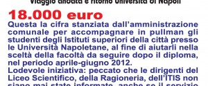 Manifesti in città: Mimmo Travel, Viaggi mai visti!!! 18.000 euro....