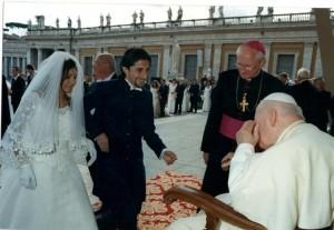 Tommaso e Giuseppina il giorno del matrimonio