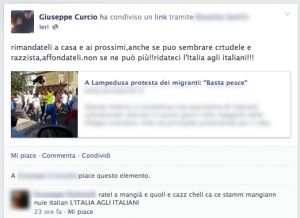 pagina facebook Giuseppe Curcio