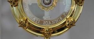 Da mercoledì reliquia di Papa Giovanni Paolo II in città