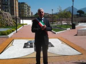 commissario Barbato inaugura il parco di via Aldo Moro
