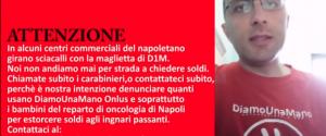 Sciacalli a Napoli fingono di essere di D1M per truffare la gente