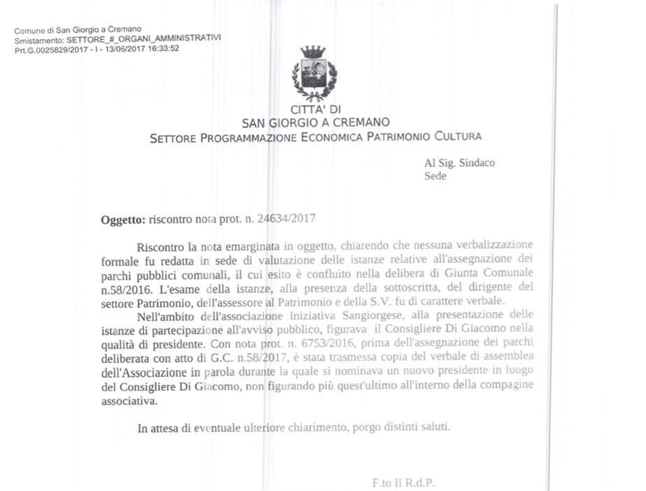 Aquilino Di Marco: A San Giorgio usiamo così...